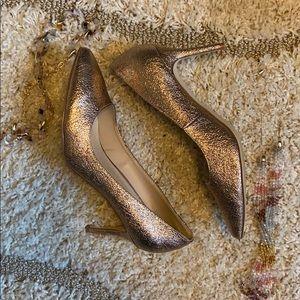 Gently worn wide width Rose Gold pumps Sz 10